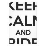 Keep calm and ride on custom stationery