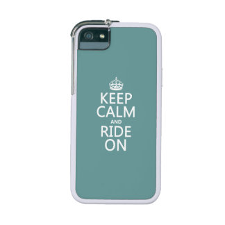Keep Calm and Ride On customisable Cover For iPhone 5
