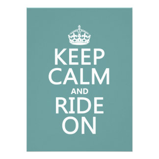 Keep Calm and Ride On customisable Announcements