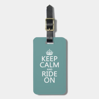 Keep Calm and Ride On, customisable Luggage Tag