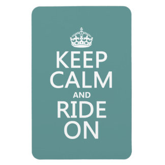 Keep Calm and Ride On, customisable Magnet