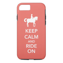Keep Calm and Ride On Dressage Horse Custom iPhone 8/7 Case