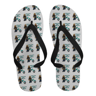 Keep Calm And Ride On Flip-Flops