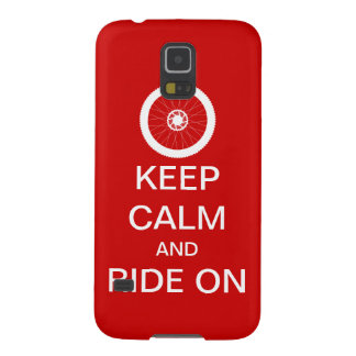 Keep calm and ride on galaxy s5 cover