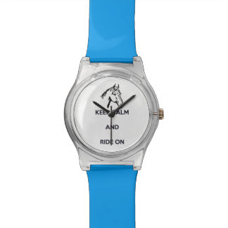 Keep Calm and Ride On Horse Head Wrist Watches