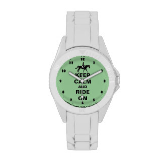 Keep Calm and Ride On Horse Watches