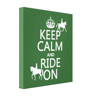 Keep Calm and Ride On - horses, all colours Canvas Print