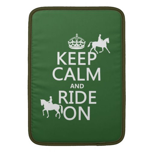Keep Calm and Ride On - horses, all colours MacBook Air Sleeve