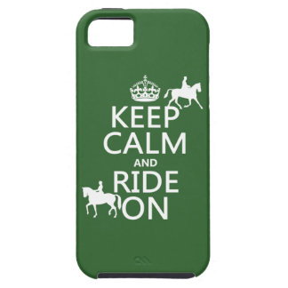 Keep Calm and Ride On - horses, all colours iPhone SE/5/5s Case