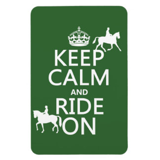 Keep Calm and Ride On - horses, all colours Rectangular Photo Magnet