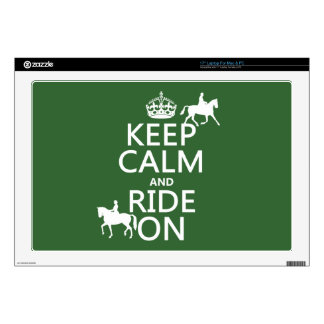 Keep Calm and Ride On - horses, all colours Skins For Laptops