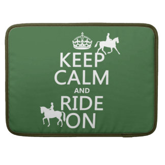 Keep Calm and Ride On - horses, all colours Sleeve For MacBook Pro