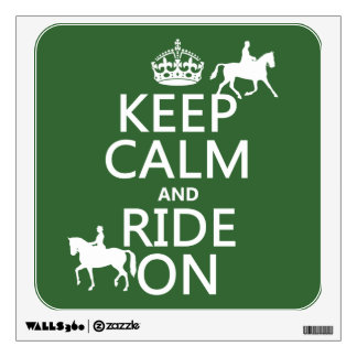 Keep Calm and Ride On - horses, all colours Wall Sticker