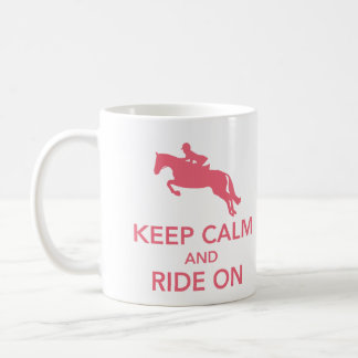 Keep Calm and Ride On Hunter Jumper Pink Mug