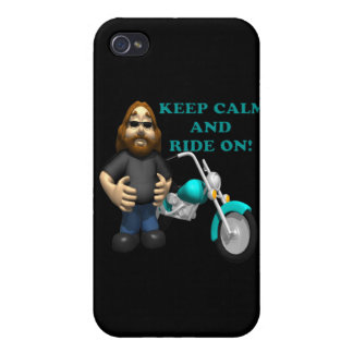 Keep Calm And Ride On Case For iPhone 4
