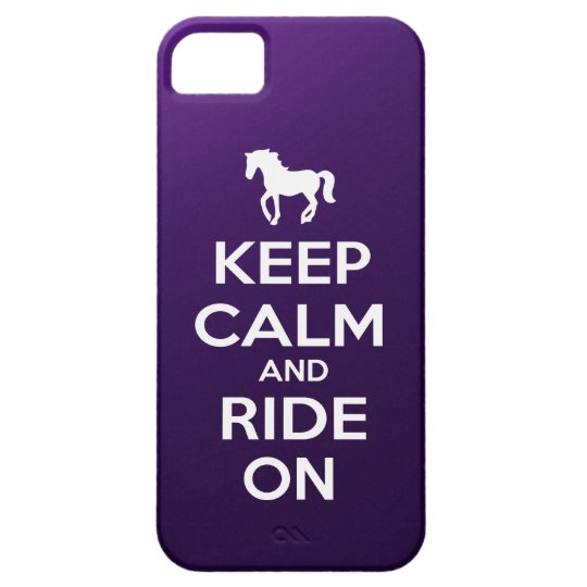 Keep Calm and Ride On iPhone SE/5/5s Case