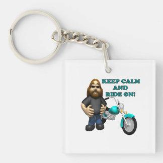 Keep Calm And Ride On Keychain