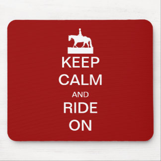 Keep calm and ride on mouse mats