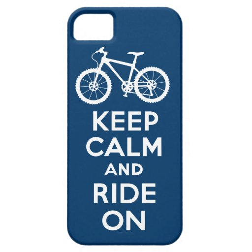 Keep Calm and Ride On navy iPhone 5 iPhone 5 Cases