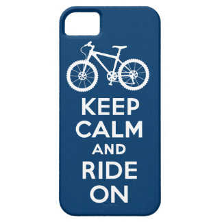 Keep Calm and Ride On navy iPhone 5 iPhone SE/5/5s Case