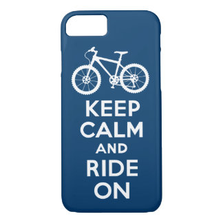 Keep Calm and Ride On navy iPhone 7 case