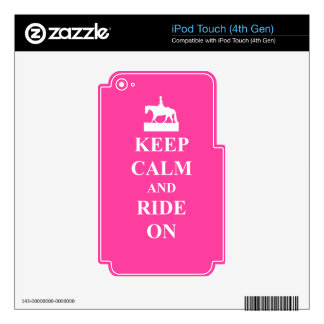 Keep calm and ride on, pink iPod touch 4G decal