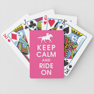 Keep Calm and Ride On Playing Cards