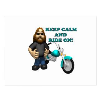Keep Calm And Ride On Postcard