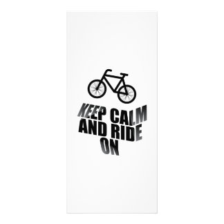 Keep calm and ride on rack card