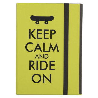 Keep Calm and Ride On Skateboarding Rider Custom Case For iPad Air