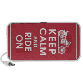 Keep Calm and Ride on Speaker