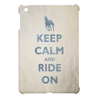 Keep Calm and Ride On Vintage look Horse lovers iPad Mini Cover