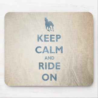 Keep Calm and Ride On Vintage look Horse lovers Mousepads