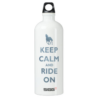 Keep Calm and Ride On Vintage look Horse lovers Water Bottle