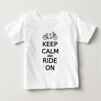 keep calm and ride on word art, text design baby T-Shirt
