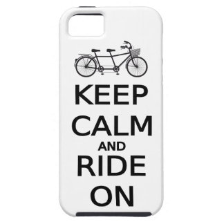 keep calm and ride on word art, text design iPhone 5 case