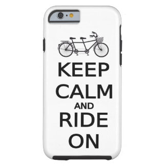 keep calm and ride on word art, text design tough iPhone 6 case
