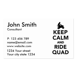 Keep calm and ride Quad Business Card