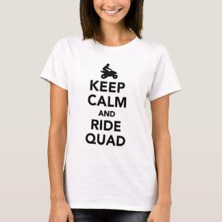 Keep calm and ride Quad T-Shirt