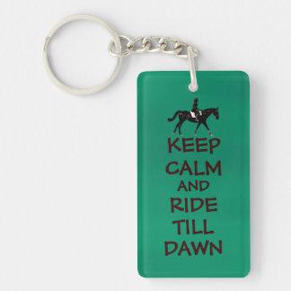 Keep Calm and Ride Till Dawn Horse Keychain