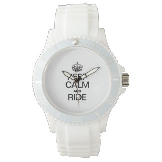 KEEP CALM AND RIDE WRIST WATCHES