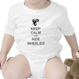 KEEP CALM AND RIDE WHEELIES TEE SHIRTS