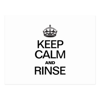 KEEP CALM AND RINSE POST CARD