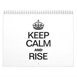 KEEP CALM AND RISE CALENDAR