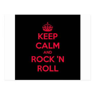 Keep Calm And Rock And Roll Postcard