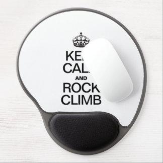 KEEP CALM AND ROCK CLIMB GEL MOUSE MATS