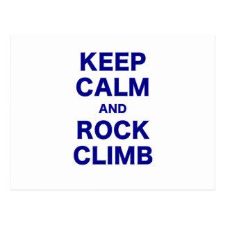 Keep Calm and Rock Climb Postcard