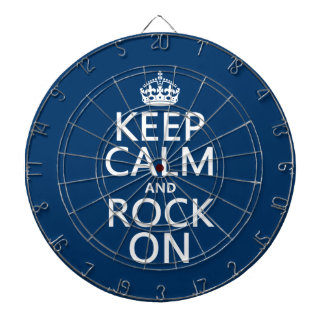 Keep Calm and Rock On (any background color) Dart Board