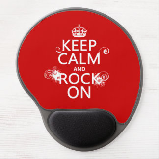 Keep Calm and Rock On (any background color) Gel Mouse Pad