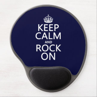 Keep Calm and Rock On (any background color) Gel Mouse Mat